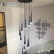 蔓普復式樓梯吊燈北歐創意後現代吊燈單頭小吊燈旋轉樓梯燈長吊燈 海角七號