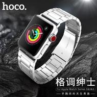ของแท้ % hoco. Apple Watch สแตนเลสสตีลพร้อมสายนาฬิกาข้อมือ Watch 1/2/3/4/5/6/SE Apple Strap Series 38 40 42 44 mm