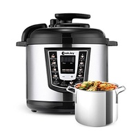 Multifunction Electric Pressure Cooker 6 Qt 8-in-1 Programmable Multi-Cooker with Stainless Steel In
