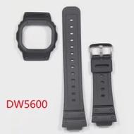 ซิลิโคนสายคล้องคอสำหรับ Casio G-SHOCK DW5600สมาร์ทนาฬิกากันน้ำนาฬิกาสแตนเลส
