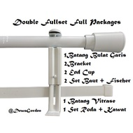Curtain Rods + Rail Vitrase White Vitrase Rod Black Platinum Rod White Iron Curtain Rod Black