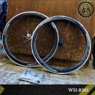 【小萬】全新 SHIMANO WH-RS81 C50 11速 輪組 碳纖維疊層 內胎式 公路車 輪組 跑零 瞎貓 板輪