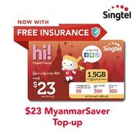 Singtel $23 MyanmarSaver