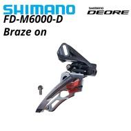 Shimano DEORE FD-M6000 SIDE SWING  FD-M6000-D Front Derailleur M6000 braze on 3x10 speed 3s 10s 3x10