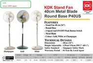 *KDK Super Sales* KDK Stand Fans 40cm [P40US] /Wall Fans KDK [M40MS]  free delivery to your home