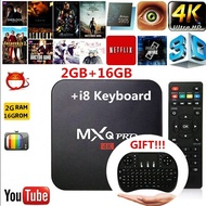 2018 NEW MXQ PRO Android 7.1 4K 2G/16G WiFi S905W Quad Core Network Smart TV Box With 2.4G Backlight