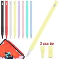 1 PC Soft ซิลิโคนกรณีฝาครอบ Nib แขนฝุ่น Candy สี TIP Holder ป้องกันผิวสำหรับ Apple Pencil 2 iPad Pro