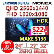 MONEX Official 24 ~ 32 inch FHD / QHD monitor Samsung panel /MONITOR / QHD /KOREA