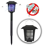 authentic 3 Fixed Type Bug Zapper Light Solar Powered Mosquito Killer Lamp for Home Garden Outdoor F
