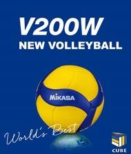 附發票xCUBESTORE|MIKASA V200W #5 超纖皮排球 皮球 5號球 比賽級排球
