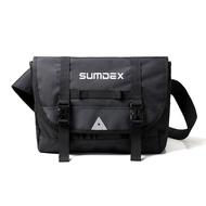 【加賀皮件】SUMDEX 潮流 輕量 黑色 單肩包 郵差包 斜背包 TX0568