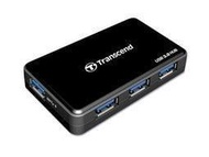 創見 TRANSCEND USB3.0 4-Port Hub 可充電iPad TS-HUB3K 內附變壓器