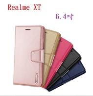 【Hanman 仿羊皮】Realme XT 6.4吋 斜立支架皮套/翻頁式側掀保護套/插卡手機套/錢包皮套