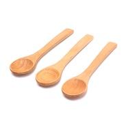 1X ช้อนไม้ไผ่ทรงกลมทำจากไม้,ช้อนตักกาแฟชาเกลืออุปกรณ์ใช้ในครัวเครื่องใช้บนโต๊ะอาหาร