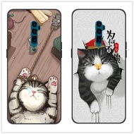เคส OPPO A9 A5 2020 A11X F11 Pro K3 Reno 10X Zoom Realme X 3 Pro A5S A3S A7 A1K C1 C2 Case cute cat Lion Wolf Cover