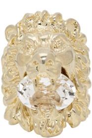 GUCCI金色狮头戒指