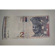 Malaysia RM2 2 Ringgit 8th Series AUNC banknote