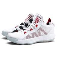 【adidas 愛迪達】DAME 6 GCA 白黑紅 鴛鴦 避震 籃球鞋 男(EF2504)