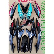 Genuine HLD Coverset Yamaha NVX155/AEROX155 Petronas GP Sticker Tanam Cover Set NVX 155/AEROX 155