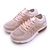 【女】LOTTO 透涼飛織緩震氣墊慢跑鞋 COOL KNIT 系列 香檳粉 0621