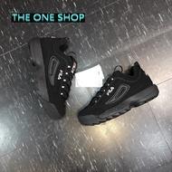 FILA 老爹鞋 鋸齒鞋 黑色 全黑 韓國 韓版 鋸齒 厚底鞋 厚底 增高鞋 增高 復古 復古鞋 DISRUPTOR 2
