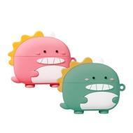 AirPods Pro 情侶組 芝麻眼恐龍 保護 套藍牙耳機 AirPods Pro 保護殼-恐龍/粉*1+綠*1