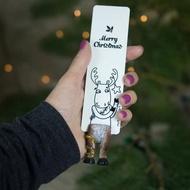 【MyBookmark】手工書籤-聖誕節麋鹿魯道夫的腳