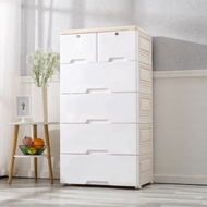 【Mr.box】56大面寬-日式五層抽屜式附鎖附輪收納櫃