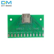 Type-C USB 3.1 Female Head Connector adapter board with PCB board 24P base Test Board DIY Power Supply For Arduino Module