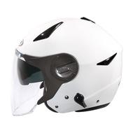 ZEUS ZS-612A 白 / 半罩安全帽 /瑞獅彩繪/輕量/可拆透氣內襯/內制墨鏡/插銷扣環 【歐樂免運】