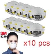 3M 8210N9510ชิ้น) หน้ากากป้องกันฝุ่น 3M PM2.5 8210 (เอ็น95)