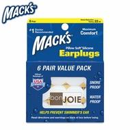 ::bonJOIE:: 美國進口 Mack's Pillow Soft Silicone Earplugs 軟質矽膠耳塞 (6付/盒) 附收納盒 (全新盒裝)