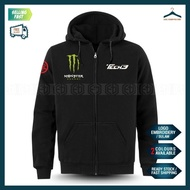 Zip Hoodie Yamaha Tech3 Monster Sulam MotoGP Motorcycle Motosikal Superbike Racing Team Casual Y125Z Y15 RXZ TZM SRL LC