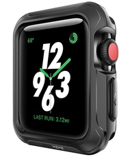 Case for Apple Watch 38mm 42mm40mm,44mm Shock-proof and Shatter-resistant Protector Bumper watch Case for Apple Watch Series  6 Series 5 Series 4 Series 3, Series 2, Series 1,Sport, Edition Black