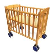台灣製嬰兒床 折合床 乳母床 木推車