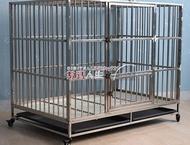 寵物籠  不銹鋼狗籠子小中大型犬拉布拉多金毛德牧薩摩泰迪寵物狗籠 數碼人生DF