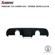 蠍子 PORSCHE 718 CAYMAN GT4/SPYDER DI-PO/CA/8/M 排氣 進氣 空運【YGAUT