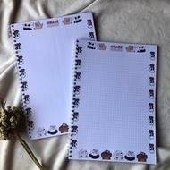 B5 Spiral WBB 70gsm Notebook We Bare Bears Book