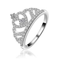 แหวนแหวนทองคำขาวเพชรมงกุฎเกาหลี