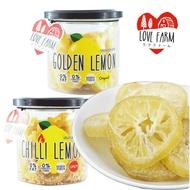 泰國 LOVE FARM 就是愛檸檬 罐裝檸檬乾 原味/辣味 120g