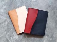 雙色書套 好好縫 皮革材料包 手工包 筆記本 書衣 開學 DIY 植鞣