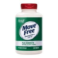 好市多 Schiff Move Free 益節葡萄糖胺+軟骨素+MSM+維生素D+鈣錠 240錠