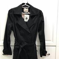 0918全新黑色風衣外套(超顯瘦)