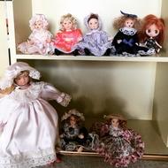 陶瓷小娃 陶瓷娃娃 迷你小娃娃 收藏娃娃 二手娃娃