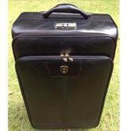 suitcase Black Classic Artificial leather 24 INCH กระเป๋าเดินทางขนาด 24 นิ้ว กระเป๋าหนัง กระเป๋าเดินทางหนัง