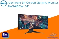 """DELL ALIENWARE CURVED Gaming Monitor รุ่น AW3418DW 34"""" 120Hz (3440 x 1440) จอมอนิเตอร์เกมมิ่ง ประกัน 3 ปี"""