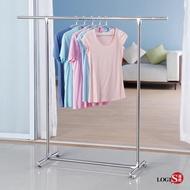 LOGIS-不鏽鋼單桿伸縮吊衣架 掛衣架 晾衣架 曬衣架