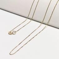 สร้อยคอทองคำแท้ผู้หญิง 9kแท้ นำเข้าจากอิตาลี ลาย box (สีทอง)   ความยาว 18นิ้ว