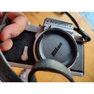 底片 單眼相機 nikon nikomat  FTn 含 機身蓋 背帶 觀景窗 保護鏡