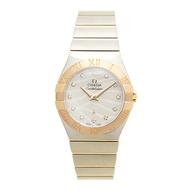 OMEGA 歐米茄Constellation 星座系列波紋玫瑰金珍珠貝母腕錶-27mm